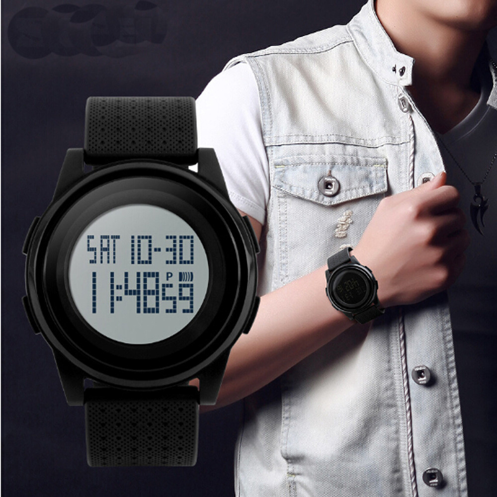 Mens Sports Watches 30M Digital LED Military Splendid Male Large Dial Electronics Wristwatches