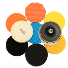 Compare Prices 11Pcs 6 inch Sponge Woolen Buffing Pad Auto Car Polishing Wheel Kit With M14 Drill Adapter