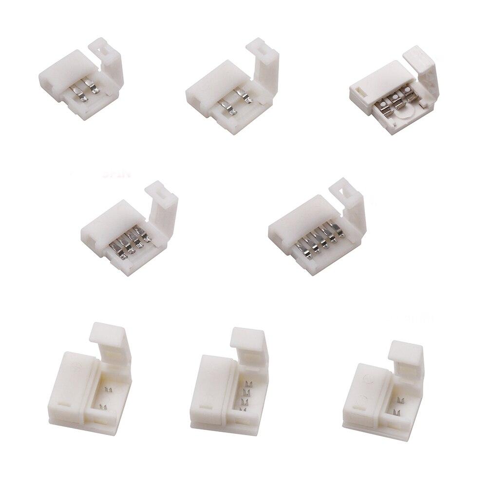 Złącze led 2 pin/3 pin/4 pin bez lutowania do 8mm/10mm 5050/3528/ws2811/ws2812b/5630/5730 taśma led smd 5 sztuk/partia