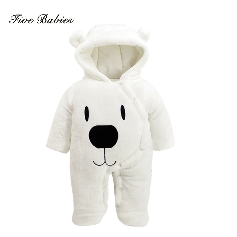 New Autumn Winter baby thick cotton the climb clothes children Coral fleece thickening long-sleeved jumpsuits boys girls romper