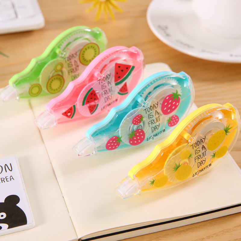 Kawaii Cute Fruit Correction Tape Creative Proof-reader Decorative Masking Tape Corrector For Kids School Stationery Supplies