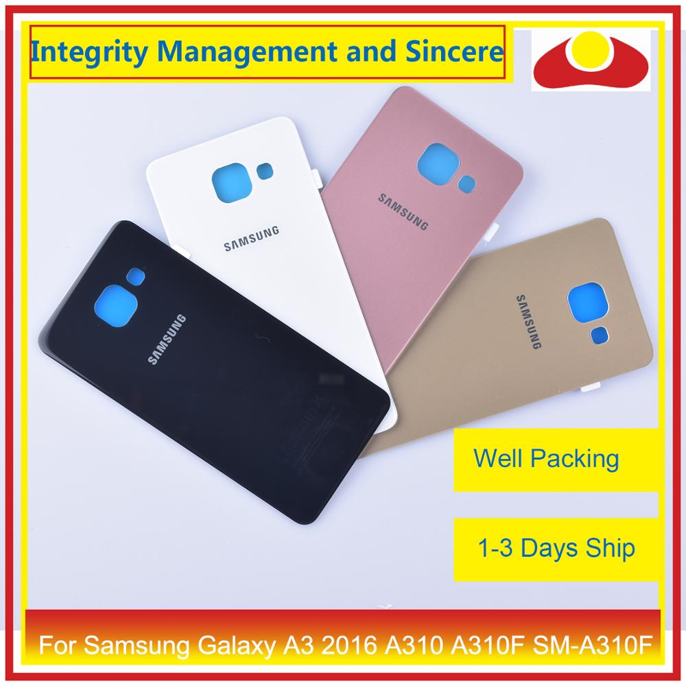 Image 2 - 50Pcs/lot For Samsung Galaxy A3 2016 A310 A310F SM A310F A310H Housing Battery Door Rear Back Cover Case Chassis Shell-in Mobile Phone Housings & Frames from Cellphones & Telecommunications