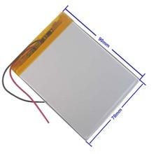 Аккумулятор 5000 мАч литий-ионный аккумулятор для планшетных ПК 7,8, 9 дюймов планшетный ПК ICOO 3,7 в полимерный литиевый аккумулятор высокого качества