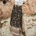 Lily Рози Девушки Женщины Повседневная Vintage Faldas Лолита Свободные Юбки 90-х Печати Элегантный Сексуальный Летом Пляж Длинные Юбки