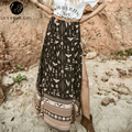 Lily Rosie Girl Women  Casual Vintage Faldas Lolita Loose  Skirts  90's Print Elegant Sexy Summer Beach Long Skirt