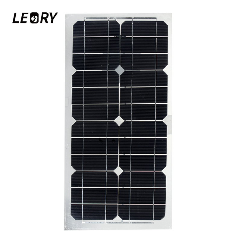 LEORY 24W 5V Solar Panel Sunpower Monocrystalline Semi-flexible Solar Panels With USB interface For Battery Charger Fan