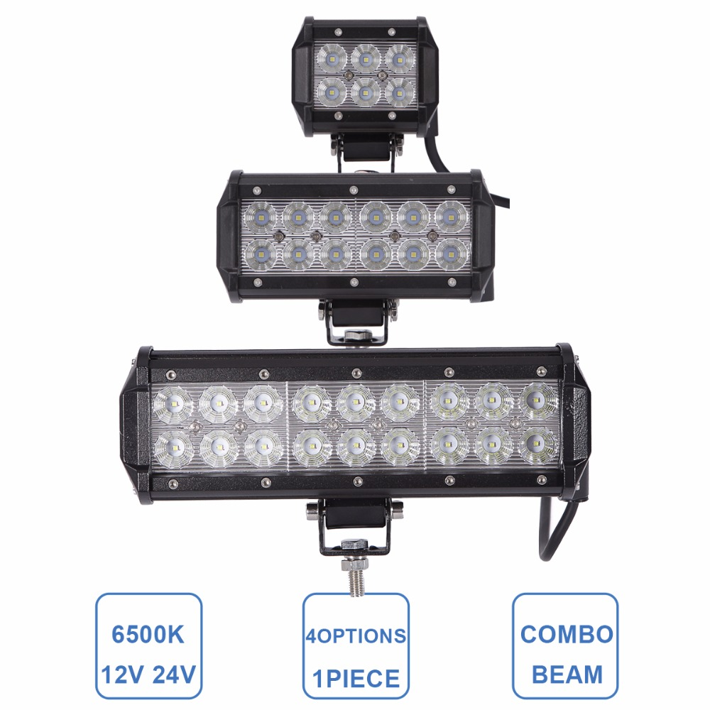 18W 36W 54W Offroad LED Work Light Bar 12V 24V Driving Headlight Car Truck Motorcycle ATV SUV 4X4 4WD UTE Wagon Boat Camper Lamp offroad 234w led light bar 37 12v 24v off road atv auto suv ute 4x4 truck trailer tractor boat yacht wagon pickup headlight