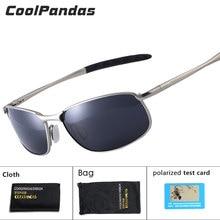 CoolPandas óculos de sol polarizado masculino, óculos para direção marca de designers lentes pequenas para homens UV400 2019
