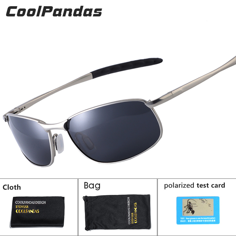 CoolPandas 2019 lunettes de soleil polarisées hommes marque Designer petite lentille lunettes de soleil hommes conduite lunettes de soleil gafas oculos de sol UV400