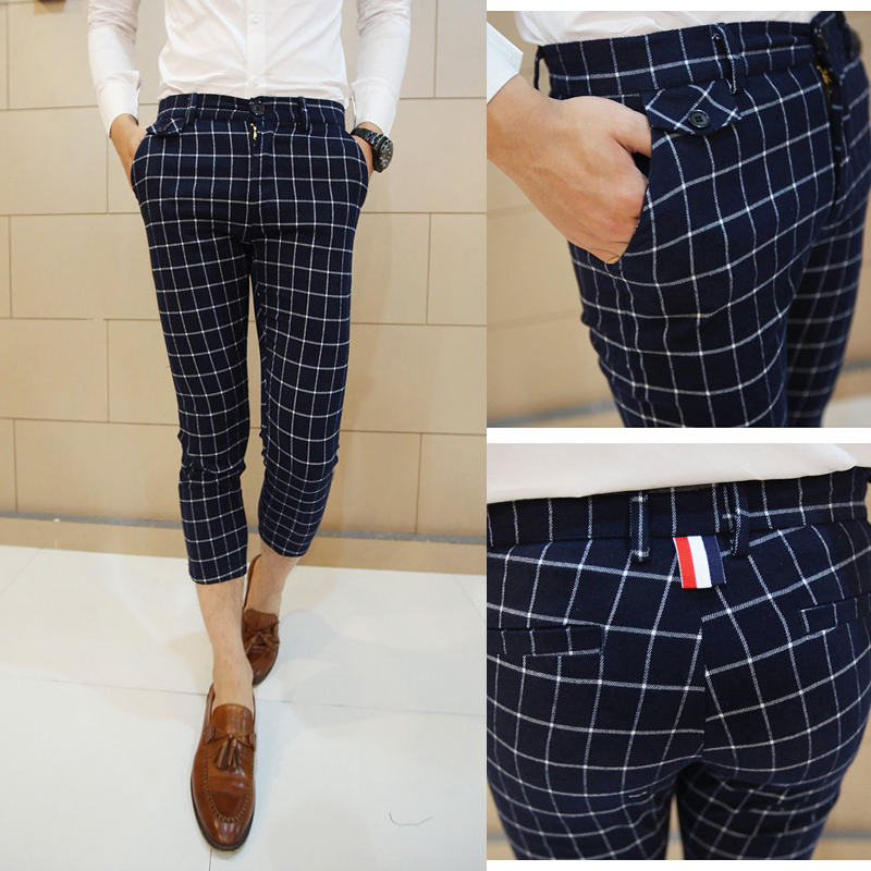 Aliexpress.com : Buy Men's Trendy Hipster Fashion Blue Gray Plaid ...