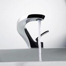 Bakala современные умывальник дизайн ванной кран смеситель водопад краны горячей и холодной воды для бассейна для ванной F8151-1