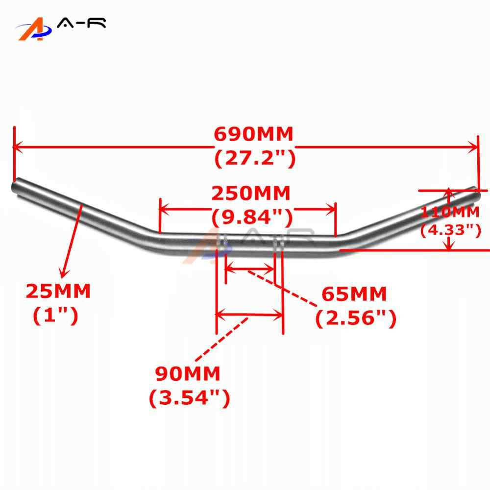 Detail Feedback Questions about 25MM Drag Bar Handlebar Handle Tubes on