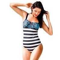 USPS 2018 Women S One Piece Swimsuit Zipper Print Bikini Swimwear Beachwear Bathing Suit Bikinis Women