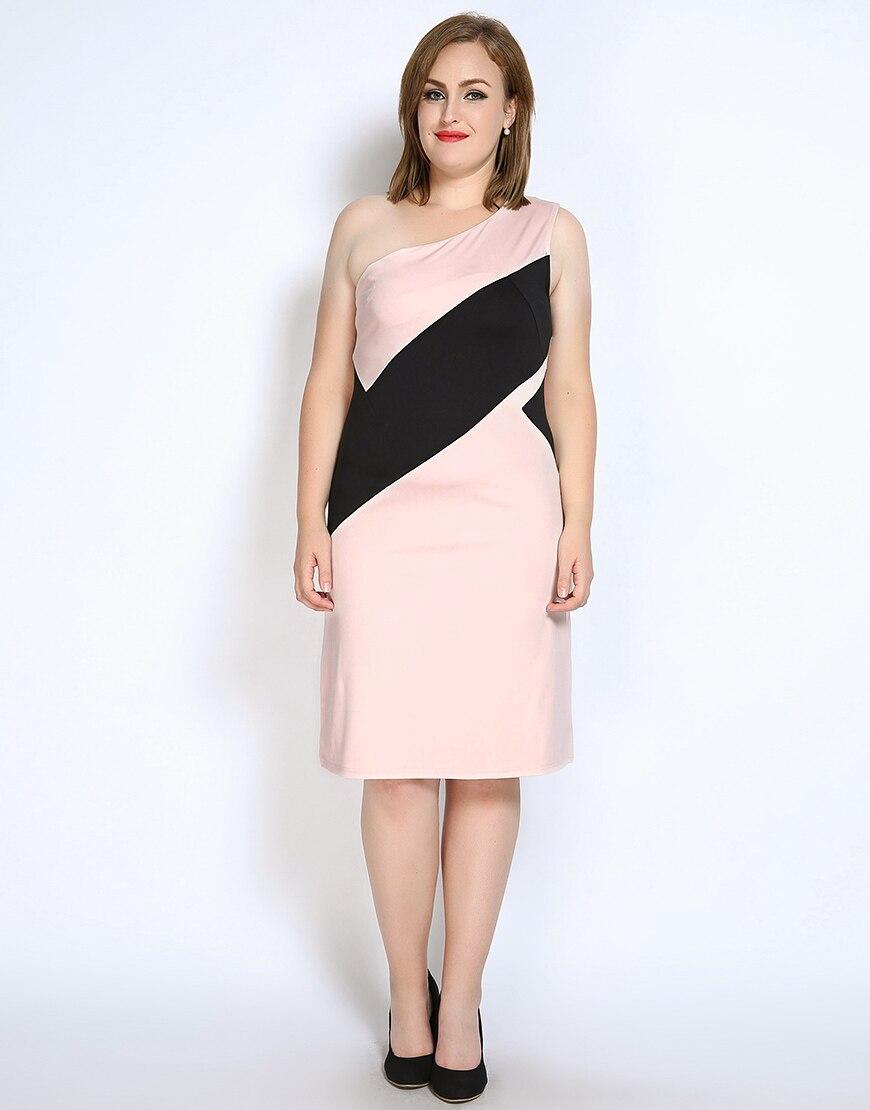 Nette Ann Frauen Sexy Eine Schulter Plus Size Cocktail Party Kleid ...