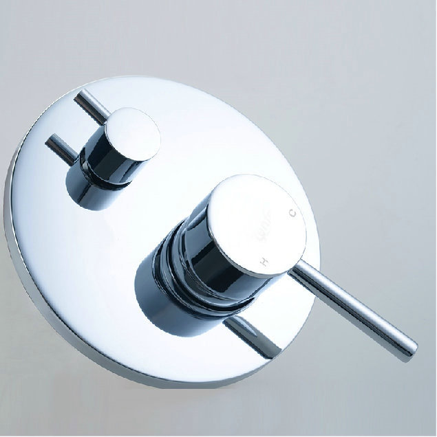 buy 2 outlets round shower valve panel shower faucet 2 handle wall mounted shower control mixer valve tap 2 from reliable shower
