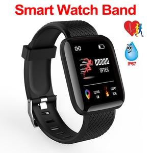Image 1 - Orologio Intelligente impermeabile Degli Uomini di Pressione Sanguigna Monitor di Frequenza Cardiaca Donne Fitness Tracker Orologio Smartwatch Per Android IOS