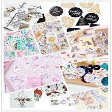 45pcs/box Lovely Cartoon Animals Planet Mini Paper Sticker Decoration DIY Album Diary Scrapbooking Label Stationery