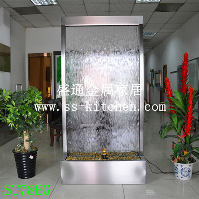 78 Indoor Stainless Steel Water Curtains Fountains Waterfalls Screen