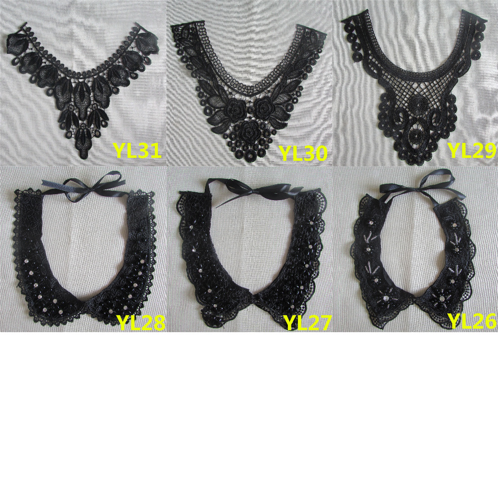 1pcs sell Exquisite Embroidery Neckline Lace Collar diy Fine Applique DIY lace collar Ladies clothing accessories YL17-YL31