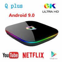P Plus Smart TV Box z systemem Android 9.0 TV Box 4GB pamięci Ram 32GB 64GB Rom 6K H.265 USB3.0 Netflix Allwinner H6 PK T95Q s905x2 Set-Top Box