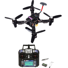 214 MM Serat Karbon Balap QAV-X FPV Drone Quadcopter RTF Kit dengan SP Racing F3 Deluxe IA6B FS-I6 Transmitter Receiver