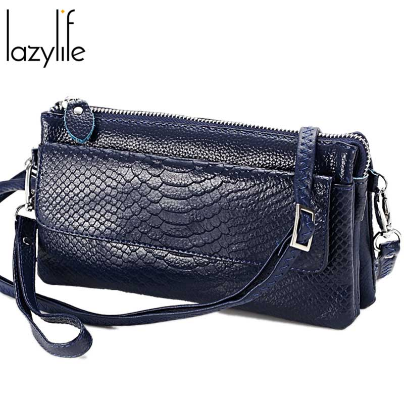 LAZYLIFE Genuine Leather Handbags Women Wedding Clutches Ladies Party Purse Famous Designer Crossbody Shoulder Messenger Bags
