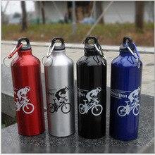 Высокое качество 4 цвета 750 мл Велоспорт туристический велосипед спортивные алюминий сплав бутылка для воды спорта на открытом воздухе