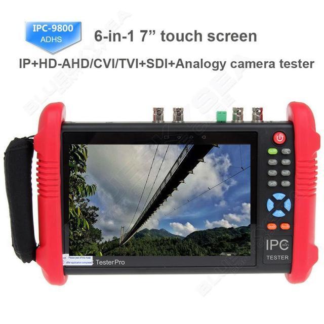 """El envío gratuito! IPC9800ADHS 7 """"de Pantalla Táctil HD 1080 P CVBS SDI CVI TVI AHD Cámara IP Tester 12 V"""