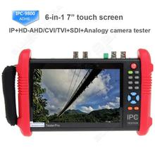 Free shipping!IPC9800ADHS 7″ Touch Screen HD 1080P TVI CVI AHD SDI CVBS IP Camera Tester 12V