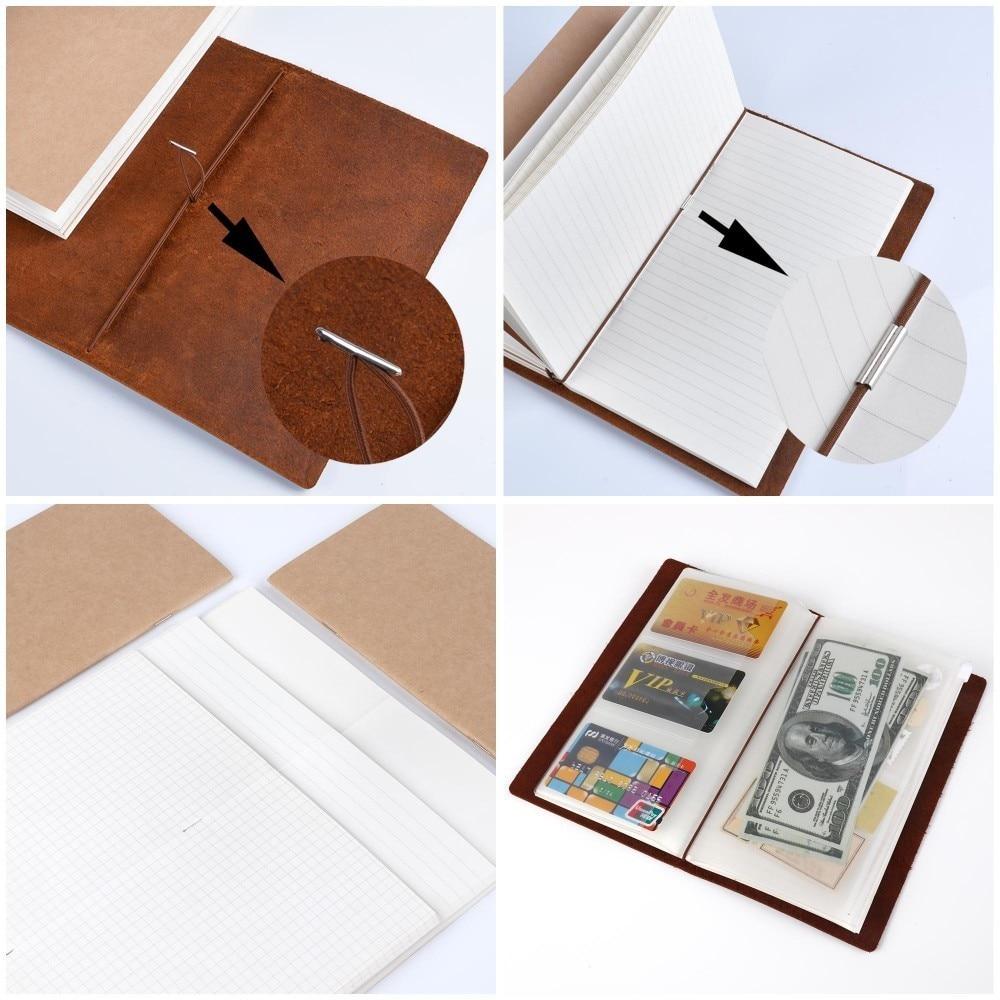 Hot Sale 100% äkta läder anteckningsbok handgjorda vintage kohid - Block och anteckningsböcker - Foto 5