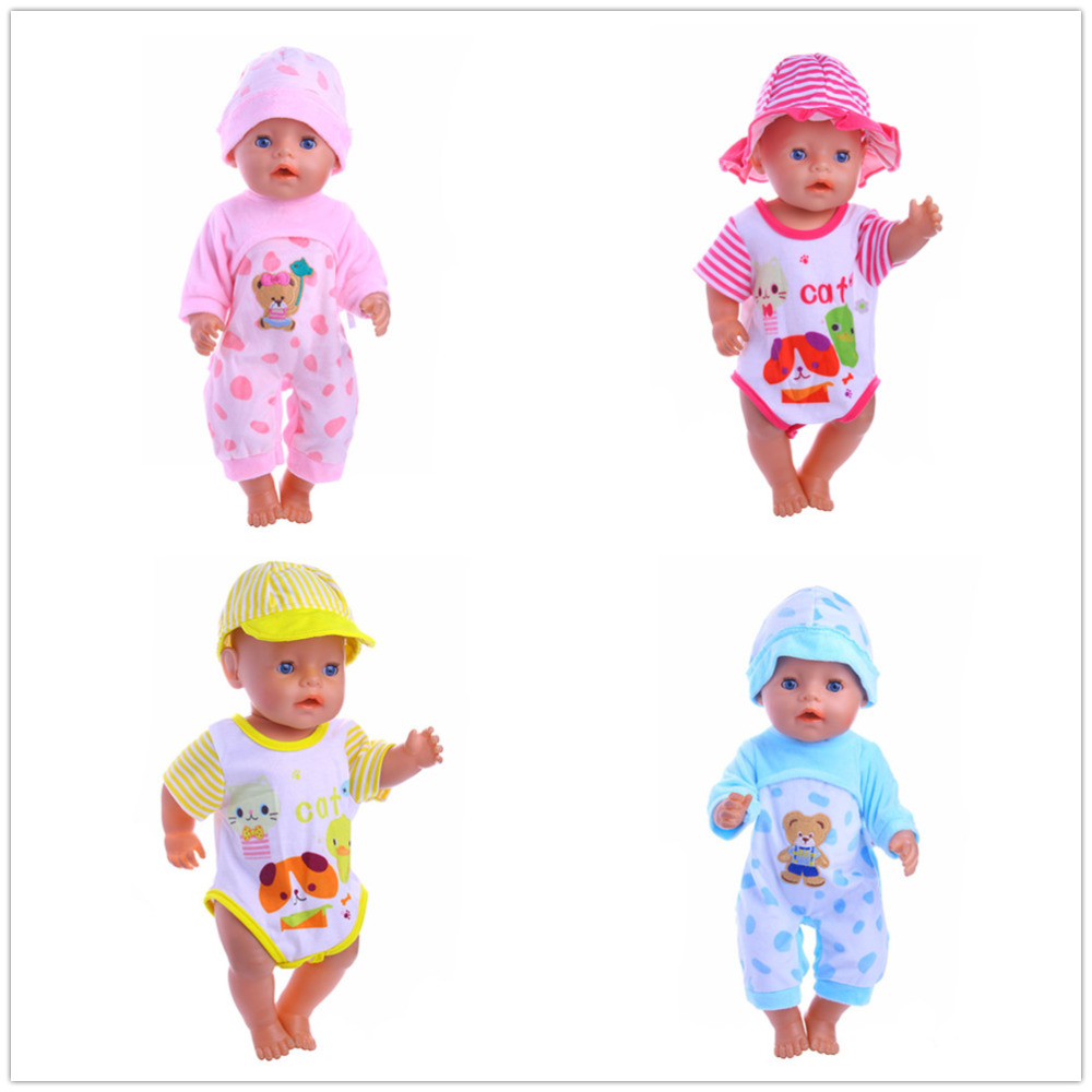 4color choose short gird jumpsuits Wear fit 43cm Baby Born zapf,Children best Birthday Gift(only sell clothes) 4color choose set clothes hairbrand wear fit 43cm baby born zapf children best birthday gift only sell package
