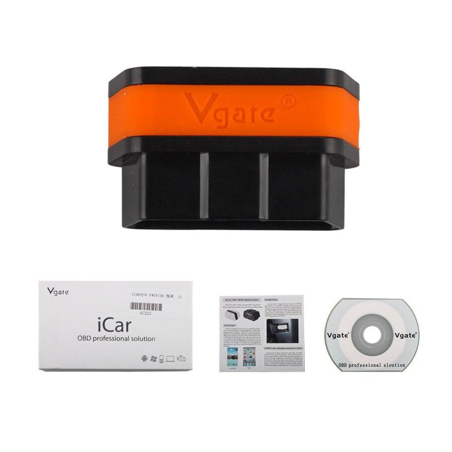 Prix pour Vente chaude D'origine Vgate WiFi iCar 2 OBDII ELM327 iCar2 wifi vgate OBD interface de diagnostic pour IOS iPhone iPad Android 6 couleurs