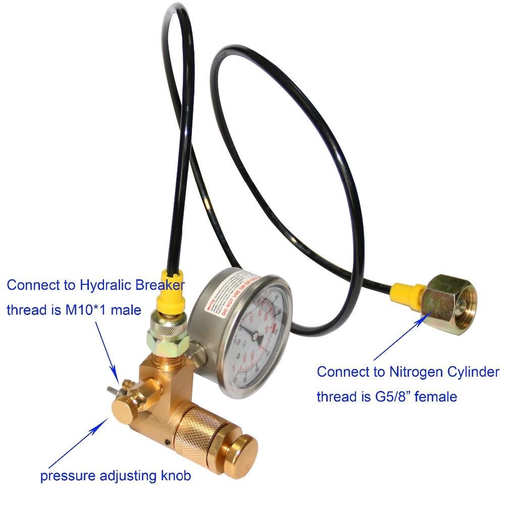 Nitrogen Gas Charging Device for hydraulic Breaker Hammer