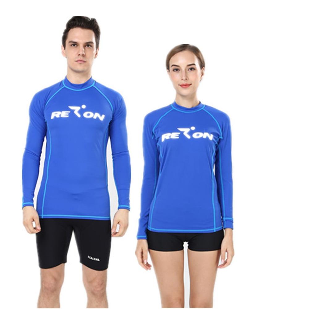 Uv Protection Long Sleeve Swimwear Nylon Spandex Men