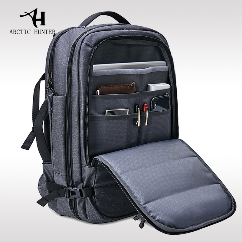 Arctic Hunter New Large Capacity Men's Backpack Shoulder Bag Men's 15.6-inch Computer Bag Travel Bag Multi-function Backpack Bag