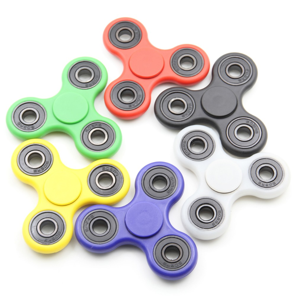 Multi color Tri-Spinner hand spinner Toy Plastic EDC Sensory Fidget Spinners For Autism ADHD Kids/Adult Funny Anti Stress Toy
