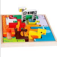 MamimamiHome Dziecko Drewniane Zabawki Dla Zwierząt Nowy Zwierząt Kreatywne Educative Montessori Zabawki Building Blocks Klocki Dla Dzieci Prezent