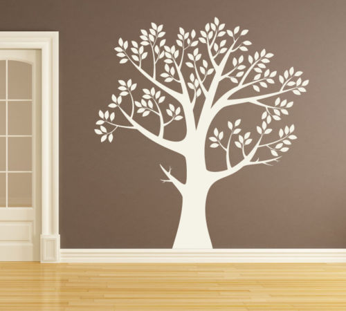Wall Art Tree ONE COLOR Vinyl Decor Decal Sticker Mural Decoration DIY Removable Wallpaper Size 4048inches 40 Colors
