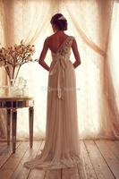 new fashion 2018 vestido de noiva one shoulder marriage romantic formal crystal bridal gown vintage mother of the bride dress