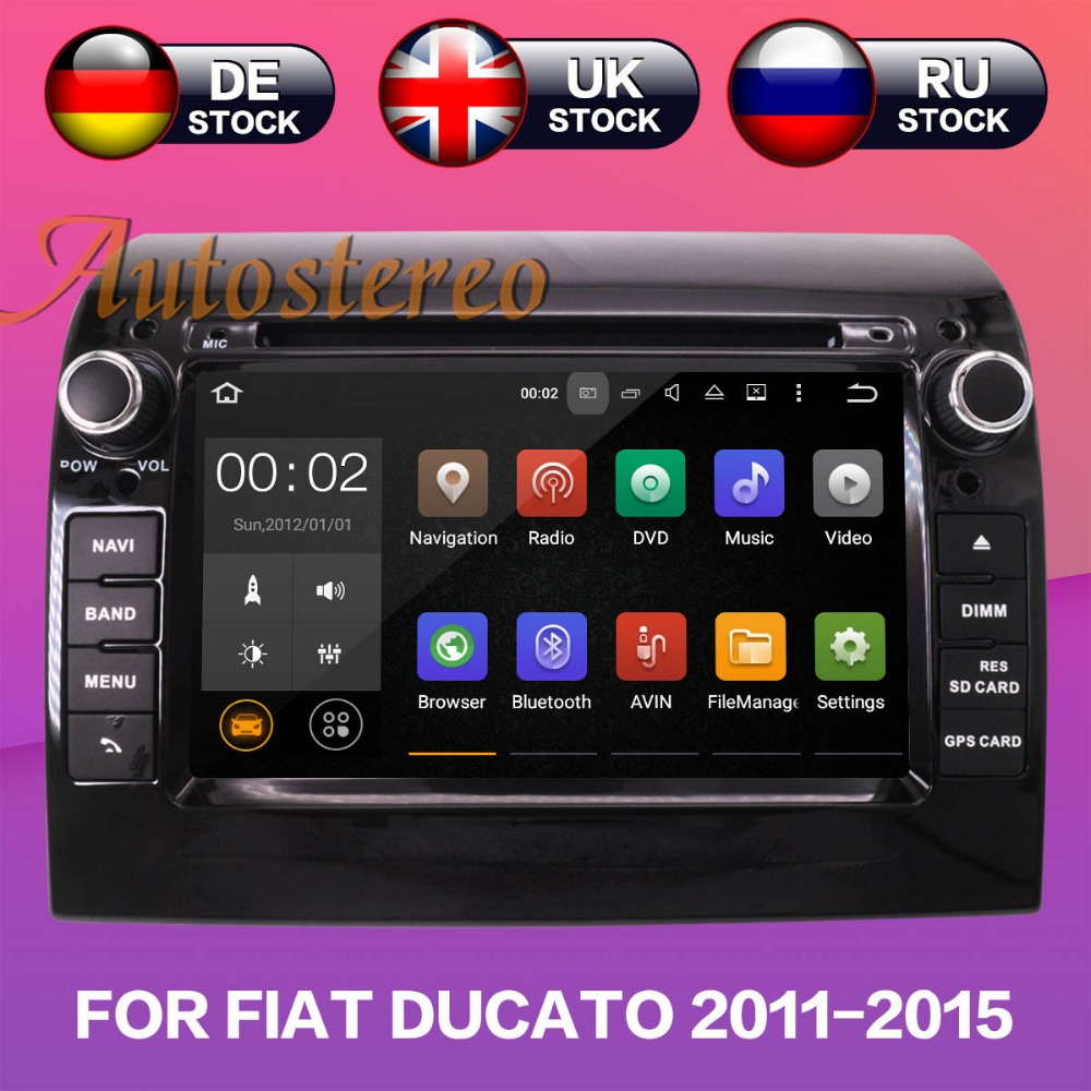 Android 8.1 Voiture Lecteur DVD GPS Navigation Pour FIAT DUCATO CITROEN Jumper pour PEUGEOT Boxer 2011-2015 multimédia bande enregistreur HD