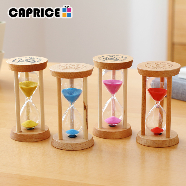 Home Decoration Accessories Hourglass 3 Minutes Sand Clock Watch Glass Wood Mini 5 Minute Shower Timer Wedding Favors SL-MZYX