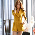 Original 2017 Brand Rompers England Style Spring Plus Size Slim Elegant Casual Solid Jumpsuits Women Wholesale