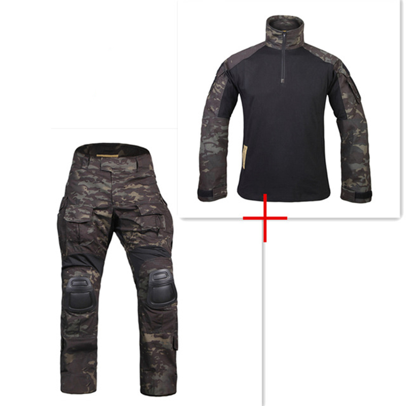 New G3 Uniform Combat Shirt Pants with Knee Pads Military Airsoft Uniform Tactical Paintball Hunting Clothes BDU CamouflageNew G3 Uniform Combat Shirt Pants with Knee Pads Military Airsoft Uniform Tactical Paintball Hunting Clothes BDU Camouflage