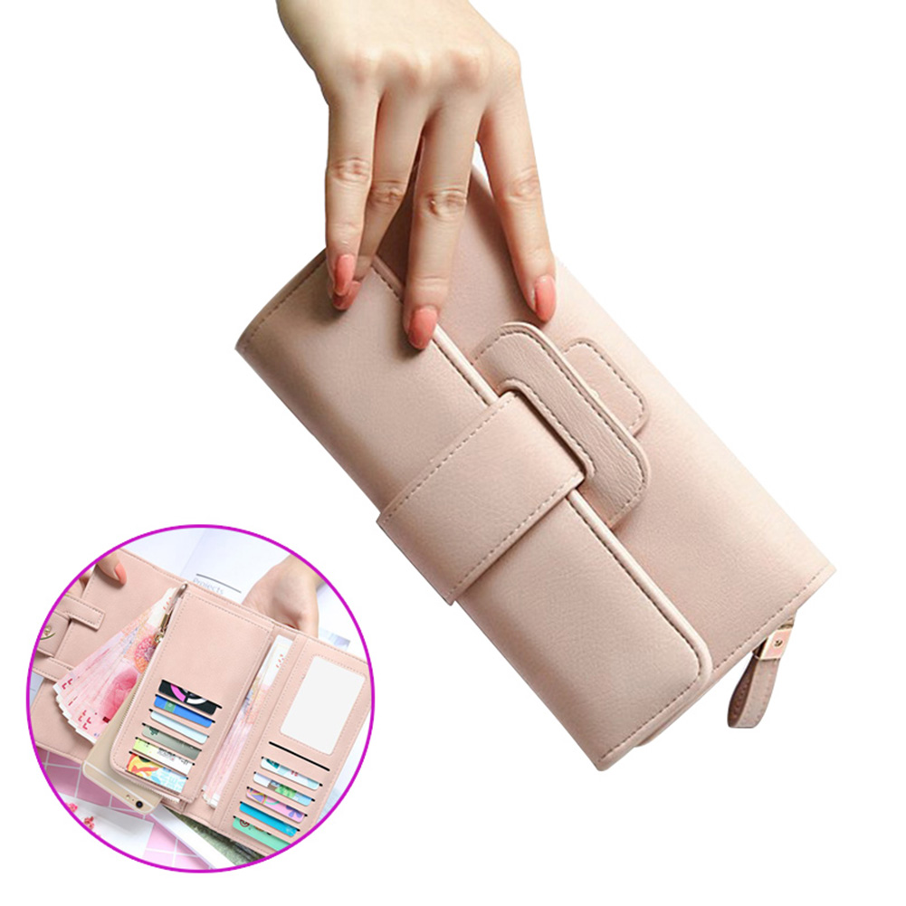 2018 New Women Wallet PU Leather Purse Card Holder Clutch Long Multi-card Bit Coins Purses BS88