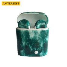 AMTERBEST пользовательский продукт цветной рисунок Bluetooth наушники близнецов Bluetooth V4.2 стерео гарнитура наушники для устройства Bluetooth