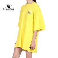 High Quality Tshirt Brand Yellow T shirt Women Summer Long Tshirts for Women Hot Sale Long Tshirt Female