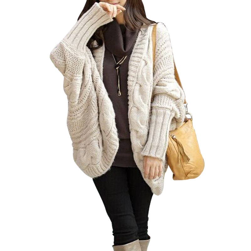 Poncho Cardigan Kimono Women Sweater Tricot Knitwear Fashion Top ...