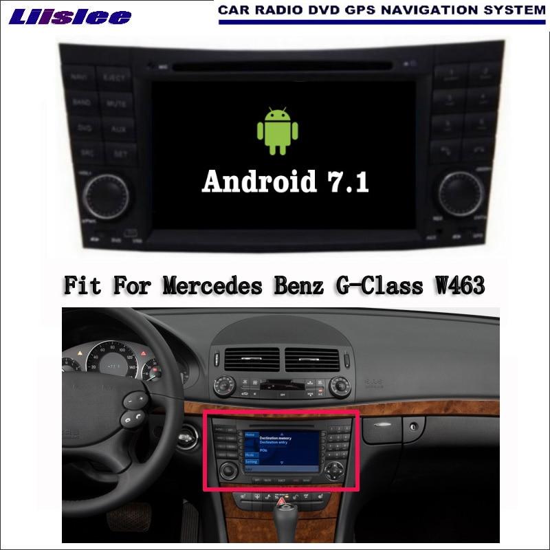 Liislee Android 7.1 2G RAM pour Mercedes Benz classe G W463 lecteur DVD multimédia de voiture WIFI Radio Audio vidéo GPS Navigation Navi