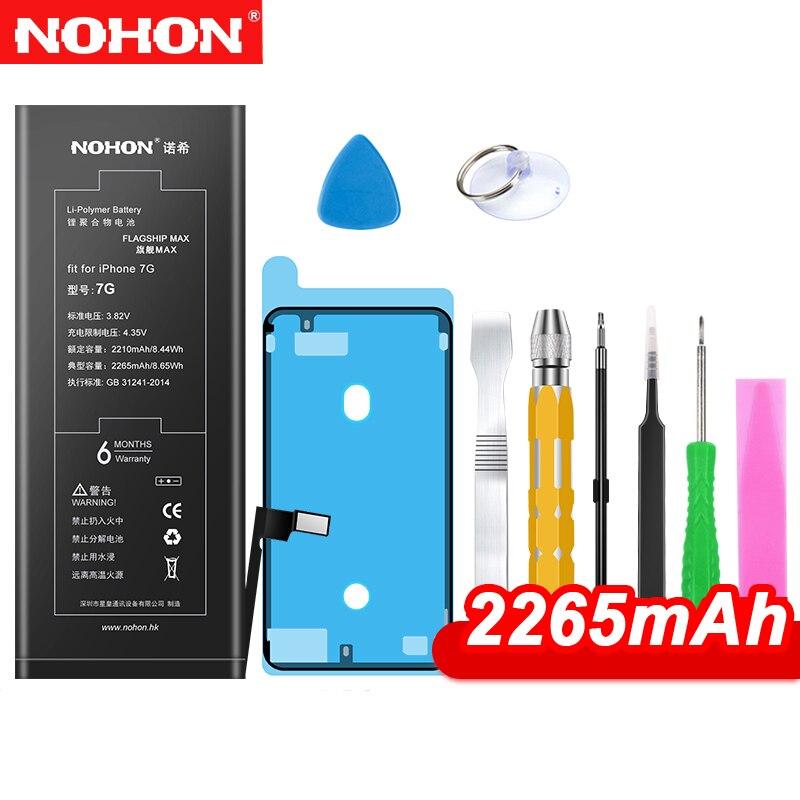 NOHON Batterie Pour iPhone 7 8 Plus 7 Plus 8 Plus SE Bateria Pour iPhone7 Remplacement Max Capacité téléphone portable Batarya + Outils gratuits