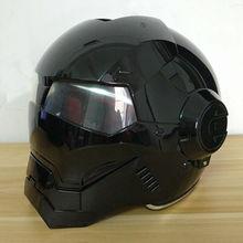 Masei Новые Яркие Черные 610 женщин Людей IRONMAN Железный Человек шлем мотоциклетный шлем половина шлем открытый шлем шлем мотокросс